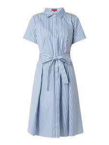 Niebieska sukienka Hugo Boss w stylu casual koszulowa