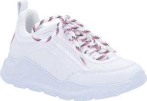 Buty sportowe MSGM na platformie ze skóry