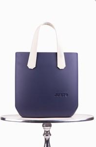 Niebieska torebka Justo duża w stylu casual