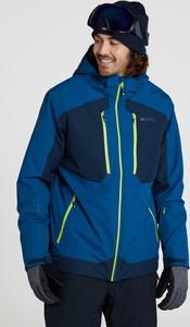 Niebieska kurtka Mountain Warehouse krótka z tkaniny w sportowym stylu