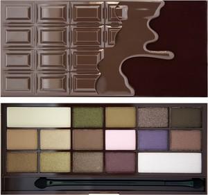 Makeup Revolution, I Love Make Up Palette, cienie do powiek, I Heart Chocolate, 16 kolorów, 22 g