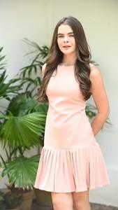 Różowa sukienka Justmelove z bawełny bez rękawów