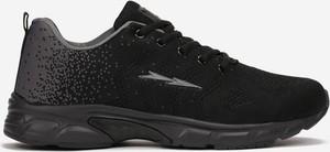 Czarne buty sportowe born2be ze skóry