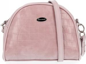 Różowa torebka David Jones ze skóry ekologicznej na ramię