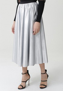 Srebrna spódnica born2be w stylu casual