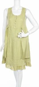 Zielona sukienka C. Valentyne mini bez rękawów