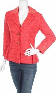 Czerwona marynarka Fontana Couture na guziki krótka