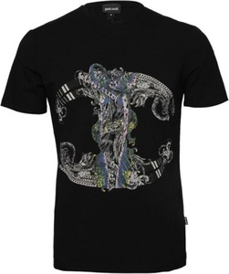 T-shirt Just Cavalli z krótkim rękawem w młodzieżowym stylu z dżerseju