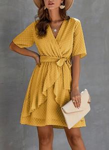 Żółta sukienka Sandbella mini