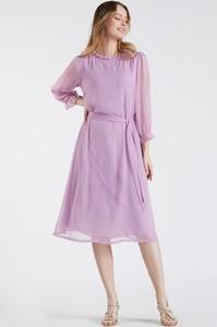 Fioletowa sukienka Monnari z długim rękawem