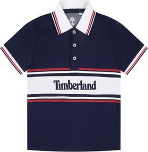Granatowa koszulka dziecięca Timberland z krótkim rękawem