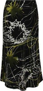 Czarna spódnica Fokus midi z tkaniny w stylu casual