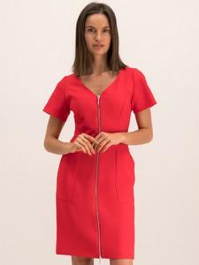 Czerwona sukienka Hugo Boss