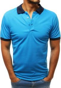 Niebieska koszulka polo Dstreet z bawełny