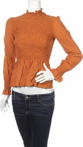 Pomarańczowa bluzka Etophe Studio z długim rękawem