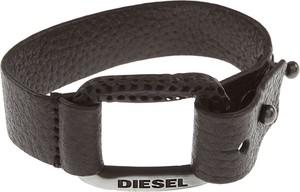 Diesel Bransoletka dla Mężczyzn, Czarny, Skóra, 2019