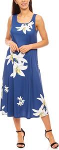 Sukienka Grupa Ventus z okrągłym dekoltem maxi na ramiączkach
