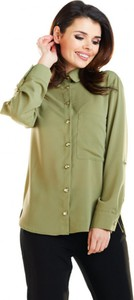 Sukienka Awama z kołnierzykiem koszulowa mini