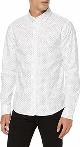 Koszula amazon.de z kołnierzykiem button down z długim rękawem z nadrukiem