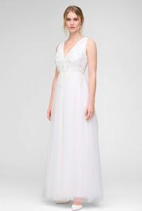 Sukienka ORSAY z dekoltem w kształcie litery v maxi z tiulu
