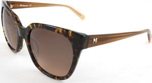Brązowe okulary damskie Missoni