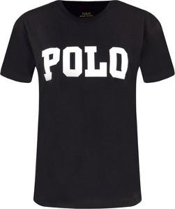 Czarny t-shirt POLO RALPH LAUREN z krótkim rękawem