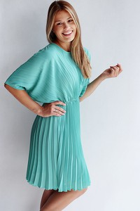 Turkusowa sukienka Endoftheday oversize