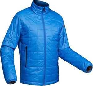 Niebieska kurtka Forclaz ze skóry ekologicznej