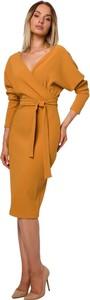 Pomarańczowa sukienka MOE z dzianiny