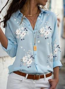 Niebieska koszula Sandbella z kołnierzykiem