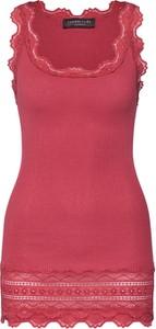 Czerwona bluzka Rosemunde w stylu casual