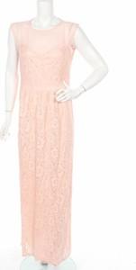 Różowa sukienka BooHoo prosta maxi