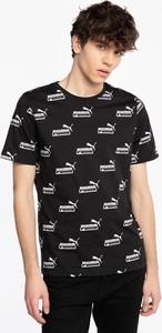Czarny t-shirt Puma w sportowym stylu z okrągłym dekoltem