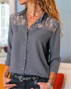 Bluzka Kendallme z długim rękawem w stylu casual z dekoltem w kształcie litery v