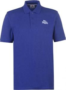 Niebieski t-shirt Lonsdale z krótkim rękawem