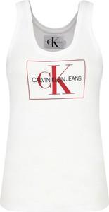 Top Calvin Klein z okrągłym dekoltem w stylu casual