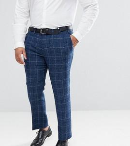 Granatowe spodnie Asos z wełny