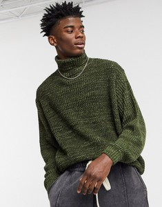 Zielony sweter Asos z dzianiny w stylu casual
