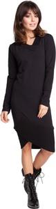 Czarna sukienka Be z dresówki