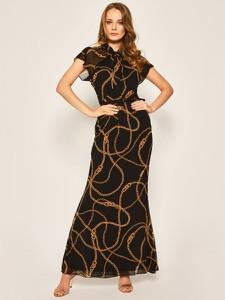 Sukienka Ralph Lauren z krótkim rękawem maxi