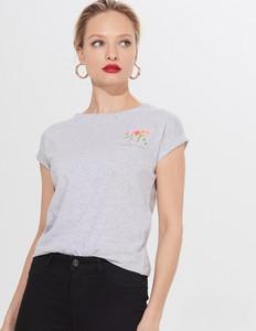 T-shirt Mohito z okrągłym dekoltem w młodzieżowym stylu