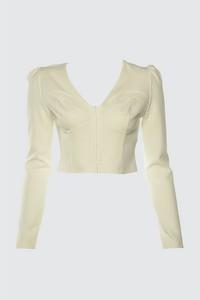 Bluzka Trendyol w stylu casual z długim rękawem