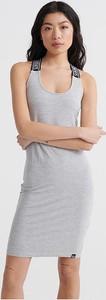 Sukienka Superdry z okrągłym dekoltem na ramiączkach mini