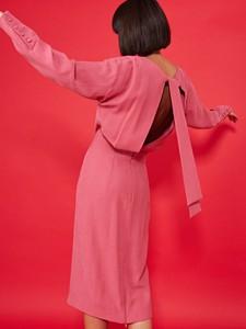 218f531487 Różowa sukienka simple
