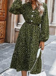 Sukienka Cikelly midi z dekoltem w kształcie litery v w stylu boho