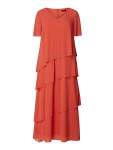 Różowa sukienka Sheego maxi z krótkim rękawem