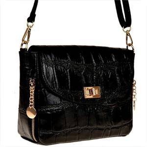 Czarna torebka vezze średnia