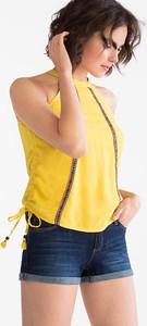 Żółty top CLOCKHOUSE w stylu casual