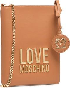 Brązowa torebka Love Moschino mała matowa na ramię