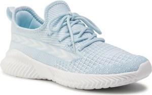 Niebieskie buty sportowe Sprandi z płaską podeszwą sznurowane